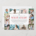 """What a Year   Year in Review Photo Collage Holiday Card<br><div class=""""desc"""">Unique modern holiday card design features twelve favorite photos -- one for each month -- surrounding your custom """"year in review"""" message in the center. Personalize with your family name, individual names, and the year, with """"what a year"""" in festive red and green lettering. Create an engaging year-in-review style card...</div>"""