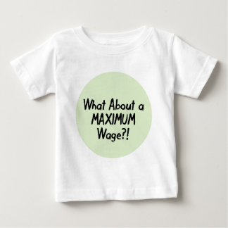 What About A MAXIMUM Wage - Occupy Wall Street Baby T-Shirt