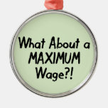 What About A MAXIMUM Wage - Occupy Wall Street Christmas Ornament