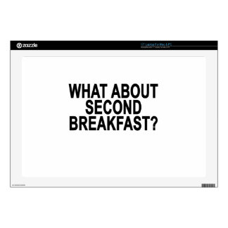 """WHAT ABOUT SECOND BREAKFAST Women's T-Shirts.png 17"""" Laptop Decals"""