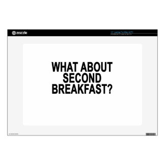 """WHAT ABOUT SECOND BREAKFAST Women's T-Shirts.png Skins For 15"""" Laptops"""