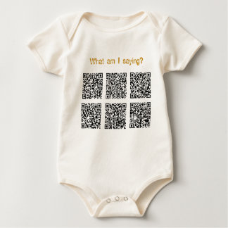 What am I saying? Baby Bodysuit