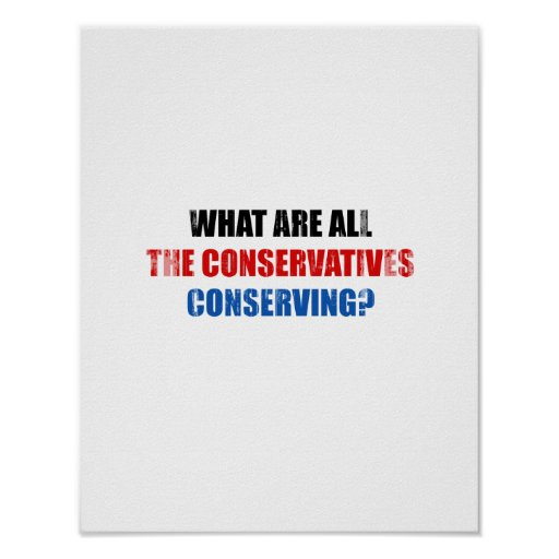 What are all the conservatives conserving Faded.pn Poster