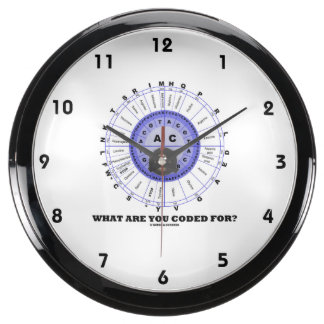 What Are You Coded For? (Amino Acid Wheel) Fish Tank Clock