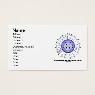 What Are You Coded For? (Amino Acid Wheel) Business Card