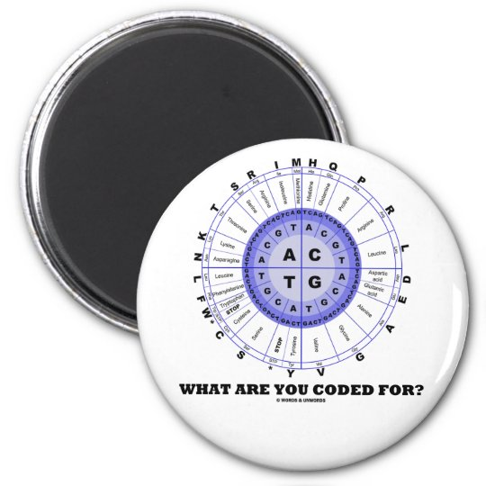 What Are You Coded For? (Amino Acid Wheel) Magnet