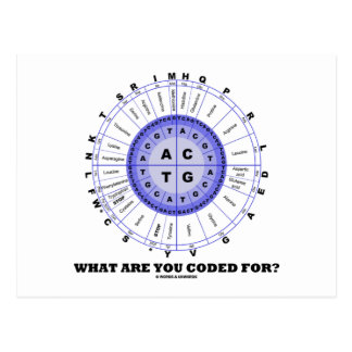 What Are You Coded For? (Amino Acid Wheel) Postcard