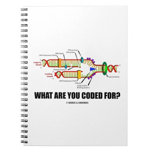 What Are You Coded For? (DNA Replication) Spiral Note Books
