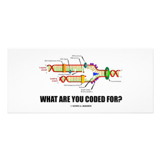 What Are You Coded For? (DNA Replication) Personalized Rack Card