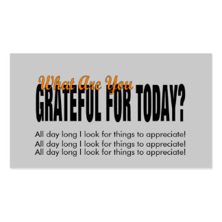 WHAT ARE YOU GRATEFUL FOR TODAY? Double-Sided STANDARD BUSINESS CARDS (Pack OF 100)