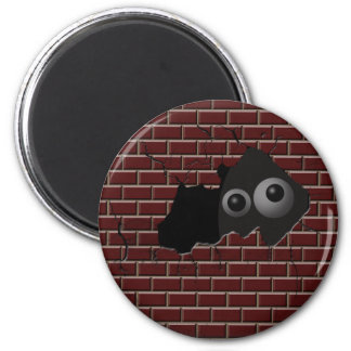 What are you hiding from?! 2 inch round magnet