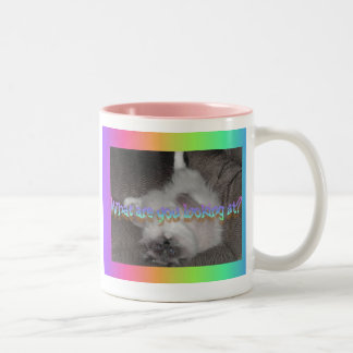 What are you looking at? Two-Tone coffee mug