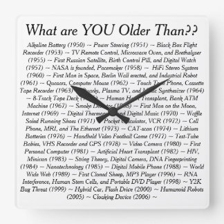 What Are YOU Older Than Square Wallclock