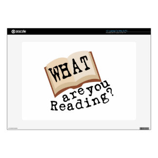 What Are You Reading? Laptop Skins