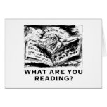 What Are You Reading Urizen Greeting Card