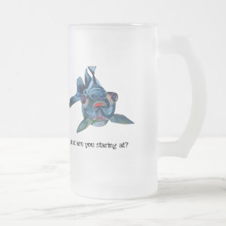 What Are You Staring At? Frosted Glass Beer Mug