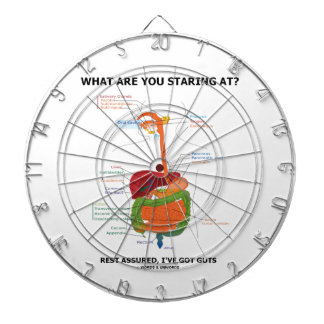 What Are You Staring At Rest Assured I've Got Guts Dartboard With Darts
