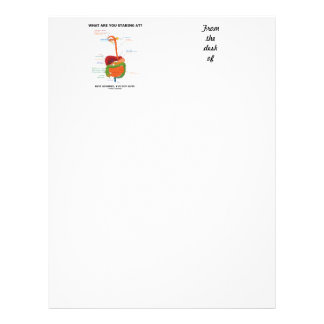 What Are You Staring At Rest Assured I've Got Guts Letterhead
