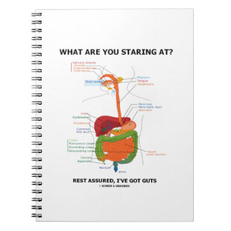 What Are You Staring At Rest Assured I've Got Guts Spiral Note Book
