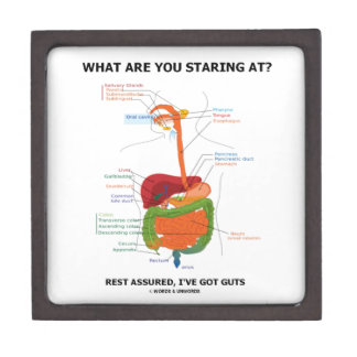 What Are You Staring At Rest Assured I've Got Guts Premium Keepsake Boxes