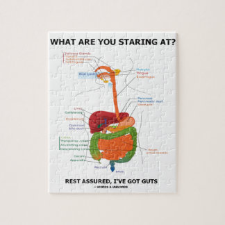 What Are You Staring At Rest Assured I've Got Guts Puzzle