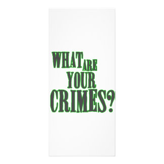 What Are Your Crimes? Rack Card