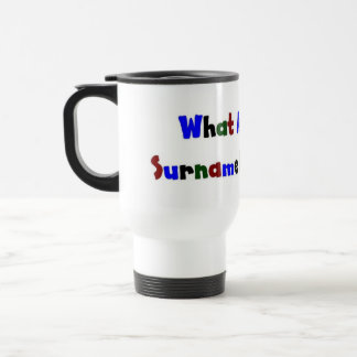 What Are Your Surname Interests? Mugs