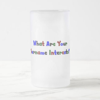 What Are Your Surname Interests? Coffee Mug