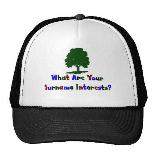 What Are Your Surname Interests? Trucker Hat