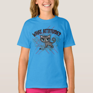 What Attitude Cute Cat T-shirt by Cheeky Chats