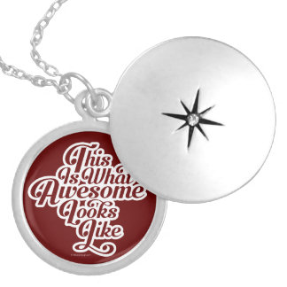 What Awesome Looks Like (D1) Silver Plated Necklace