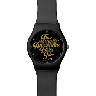 What Awesome Looks Like Wristwatch