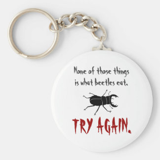 What Beetles Eat Basic Round Button Keychain