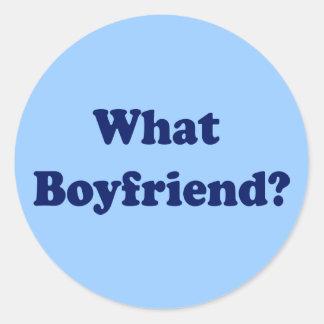 What Boyfriend? Classic Round Sticker