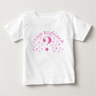 What Boyfriend??? Pink Baby T-Shirt