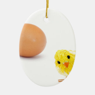 what came first the chicken or the egg? ceramic ornament
