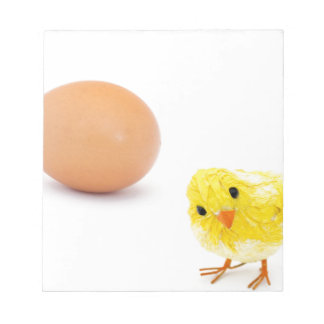 what came first the chicken or the egg? note pad