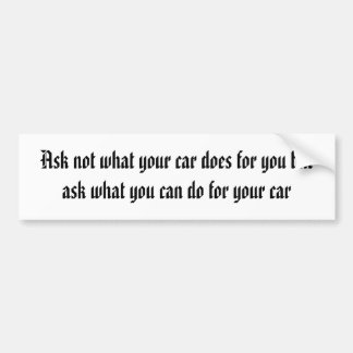 what can you do for your car bumper sticker