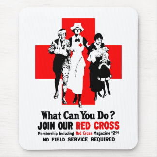 What Can You Do? Red Cross Mouse Pad