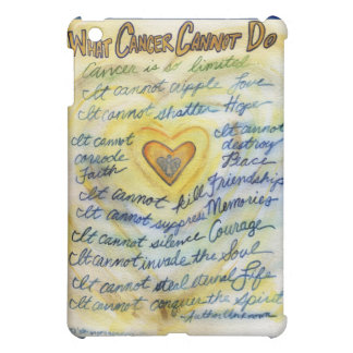 What Cancer Cannot Do Angel Art iPad Hard Case iPad Mini Cover