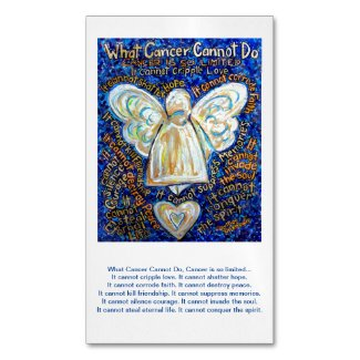 What Cancer Cannot Do Angel Poem Custom Magnets