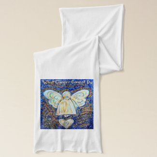 What Cancer Cannot Do Blue and Gold Angel Scarf