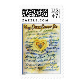What Cancer Cannot Do (Blue and Gold Text) Postage