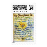 What Cancer Cannot Do (Blue and Gold Text) Stamps