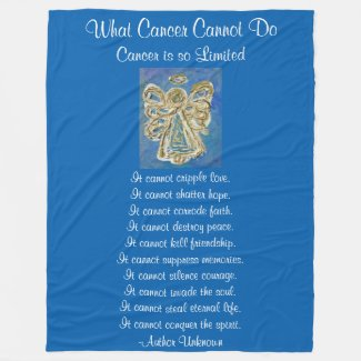 What Cancer Cannot Do Blue Angel Chemo Blanket
