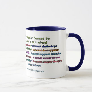 What Cancer Cannot Do (Blue & Gold Text) Mug