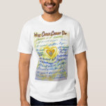 What Cancer Cannot Do (Blue & Gold Text) T-shirt
