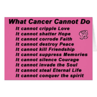 what cancer cannot do card