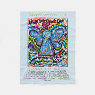What Cancer Cannot Do Chemo Angel Fleece Blanket