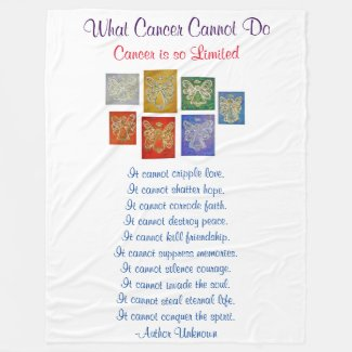 What Cancer Cannot Do Guardian Angel Chemo Blanket